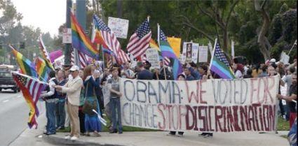 lgbt obama protest