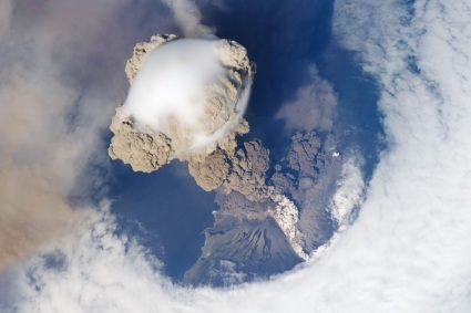 Sarychev Peak Eruption, Kuril Islands via International Space Station